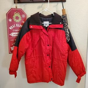 🍀Winter coat red and black NWOT🍀